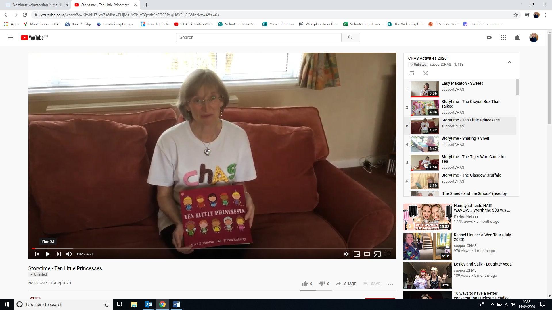 Julie on You Tube